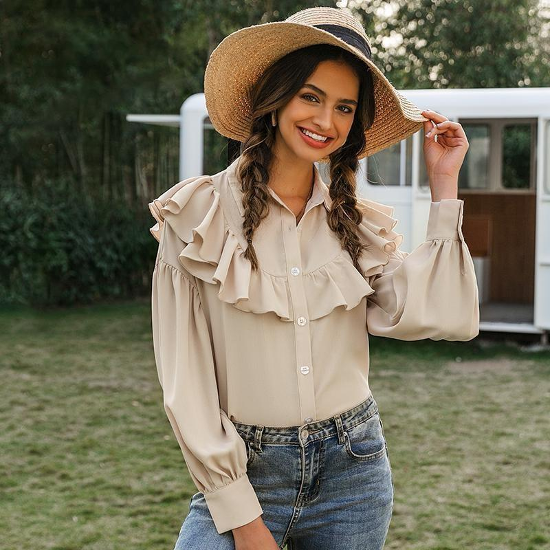 Boho Cream Blouse - S