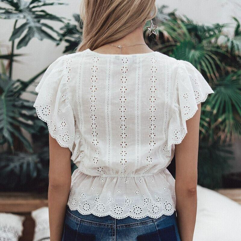Boho Embroidered Top - S