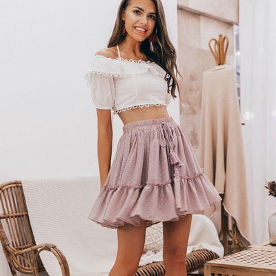 Boho Gathered Skirt