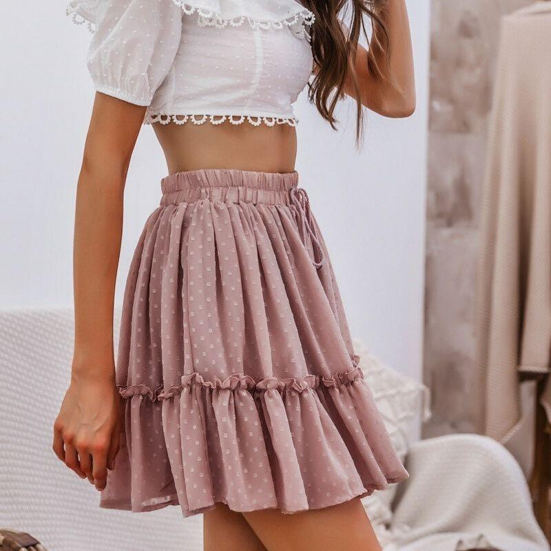 Boho Gathered Skirt - S