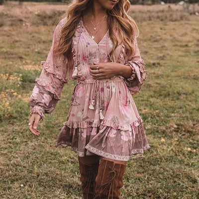 Boho Hippie Mini Dress