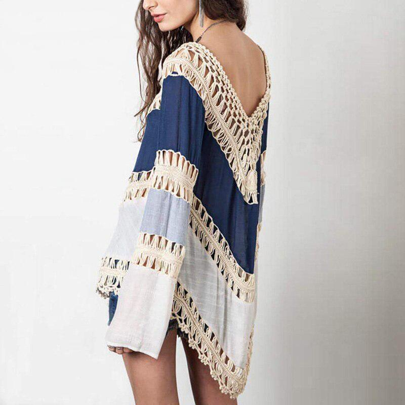 Boho Hippie Tunic - Blue / S