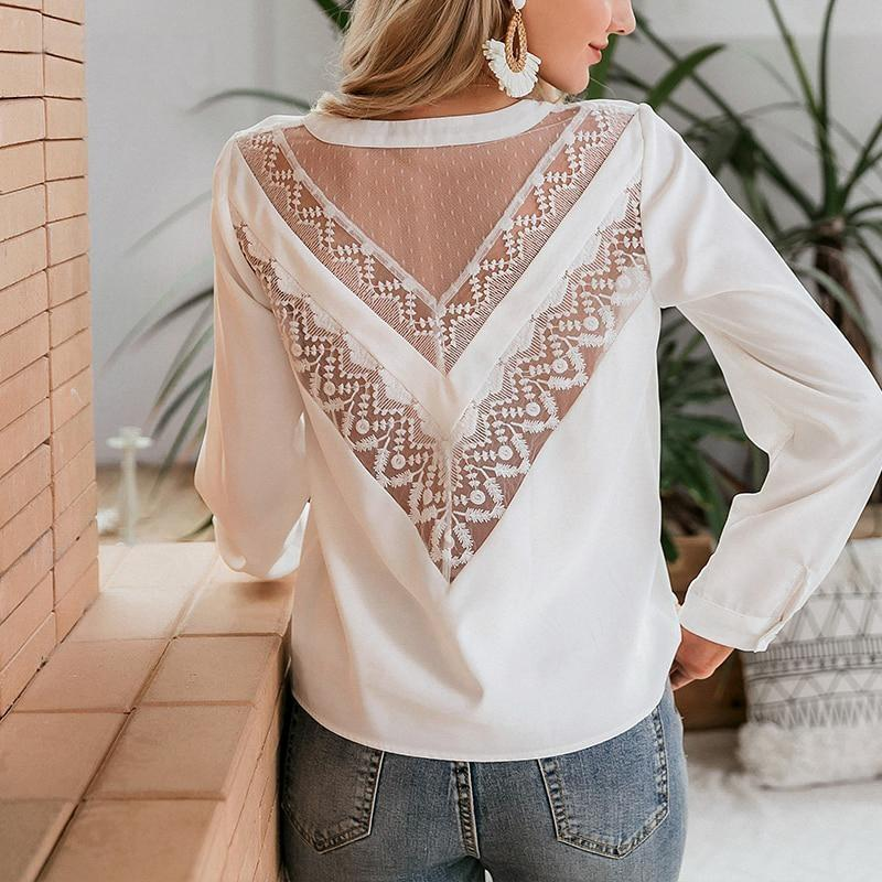 Boho Lace Top With Sleeves - S