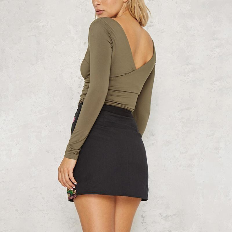 Boho Short Skirt - Black / S