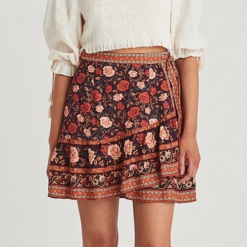 Boho Wrap Around Skirt