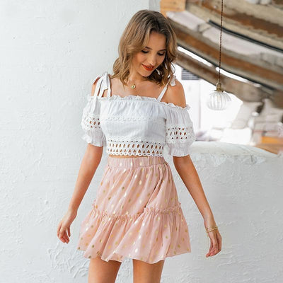 Off The Shoulder Boho Crop Top