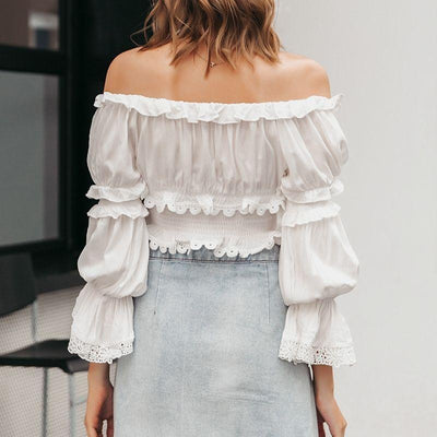 Crop Top Bohème Blanc