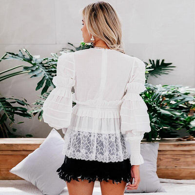 White Lace Boho Tunic