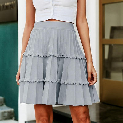 Winter Boho Skirt - Gray / S