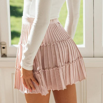 Winter Boho Skirt - Pink / S