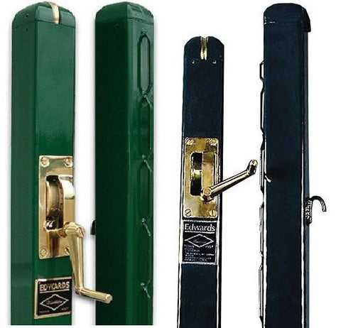 "Tennis Net Posts - Edwards Wimbledon 3"" Square Green or Black"