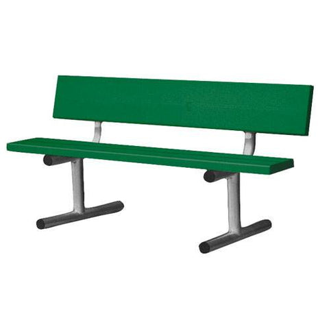 Bench - 5' Aluminum Courtsider Green or White