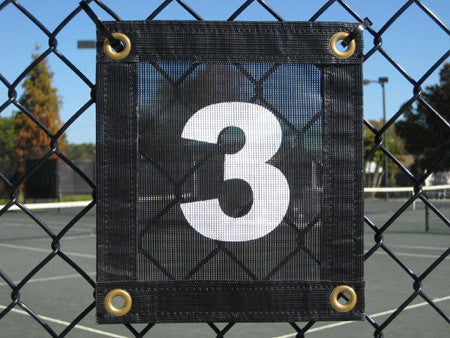 Court Numbers VCP Windscreen