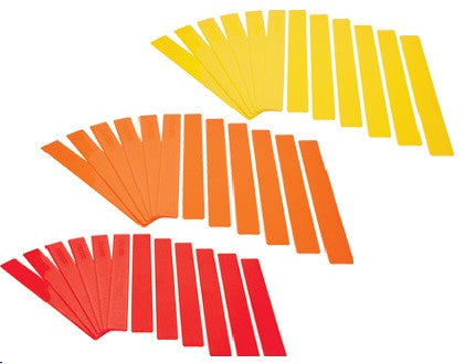 "Long Lines - 24""L Red, Orange or Yellow"