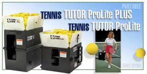 Tennis Ball Machine - Sports Tutor TENNIS TUTOR ProLite & ProLite PLUS