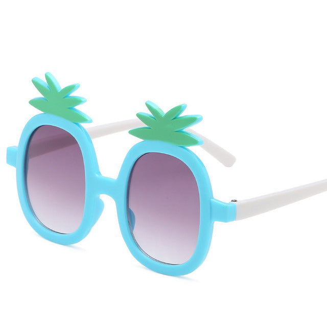 Kids Sunglasses Big Frame Sunglasses Girl Boy Eyewear Travel Eye Pineapple Glass Cateye Cute