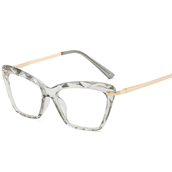 Cat Eye Glasses Frames Trendy Brand Transparent Myopia Eyeglasses