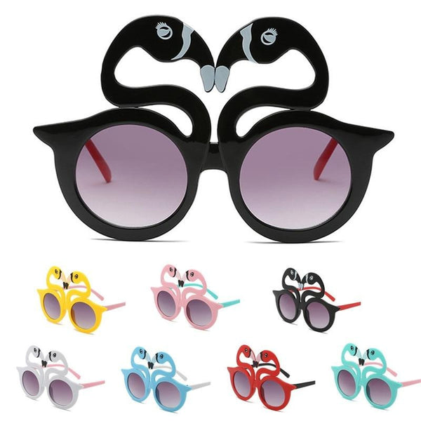 Cute Swan Shape Kids Sunglasses Polarized Child Baby Safety Coating Eyewear Shades