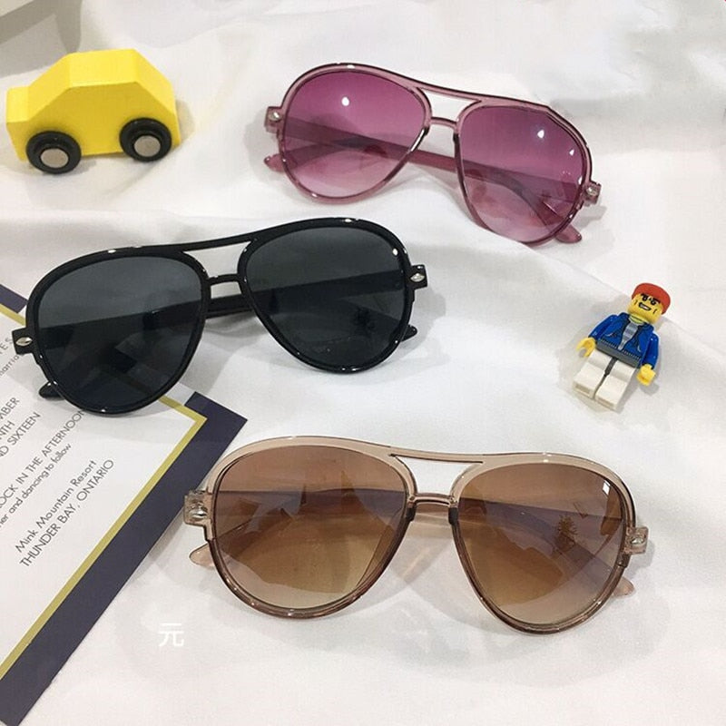 Mirror Kids Sunglasses Children Gradient Colorful Pink Sunglasses Girls &  Boys