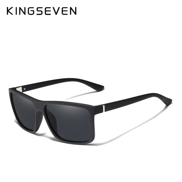 KINGSEVEN Men's Glasses TR90 Polarized Lens Sunglasses Mirror Square Goggle Eyewear Accessories For Men Female Sun Glasses Gafas
