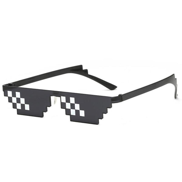 Funny Glasses Men Thug Life Sunglasses Mosaic Masculine Black Polygonal Oculos