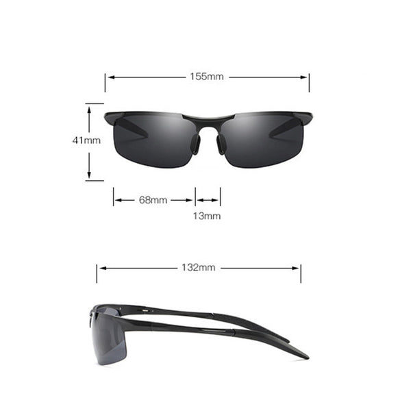 Aviation Aluminum Magnesium Hd Polarized Sunglasses Riding Sports Driving Eyeglass