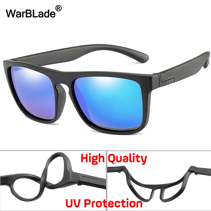 New Kids Silica Soft Sunglasses Polarizing Square Boys Girls Brand Eyeglasses Infant UV400 Breakproof Sunglasses