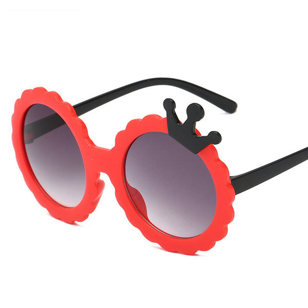 Cute Crown Shape Kids Sunglasses Polarized Child Baby Safety Coating Sun Glasses