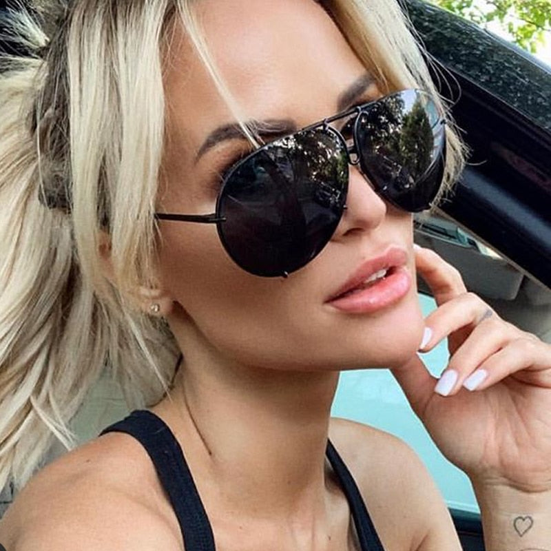 unique alloy paw frame sunglasses for women vintage luxury brand aviation shades