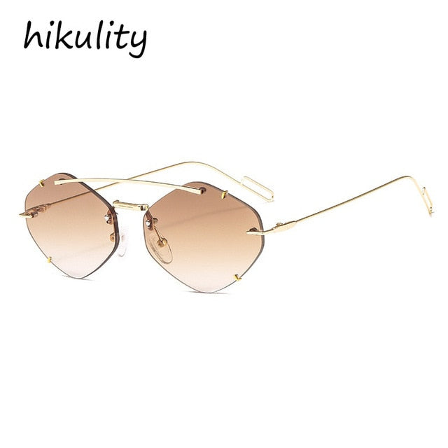 irregular paw lens sunglasses for women small frame goggle sunglasses cat eye shades