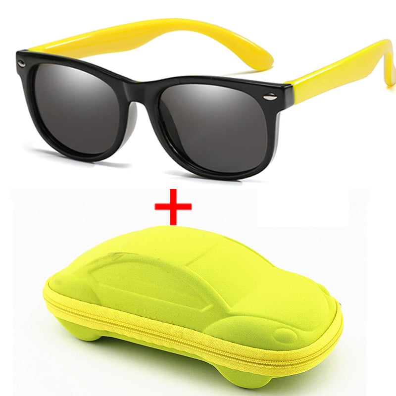 Children Polarized Sunglasses Boys & Girl Silicone Safety Kids Sunglasses Eyewear Child