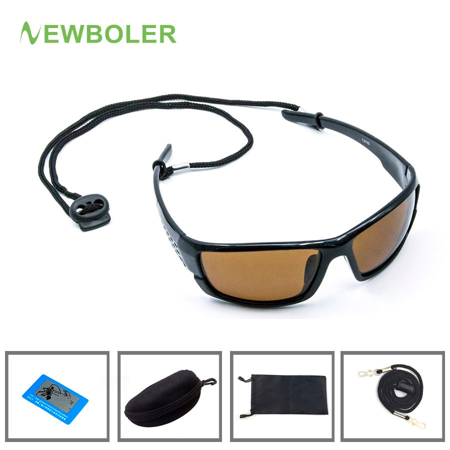 Polarized Fishing Sunglasses Brown Yellow Lenses Night Version Men Glasses Outdoor Sport Driving