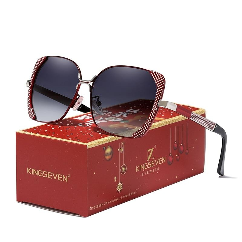 Merry Christmas Gift Sunglasses Women Ladies Gradient Butterfly Sun Glasses Female Vintage 7th Anniversary Limited