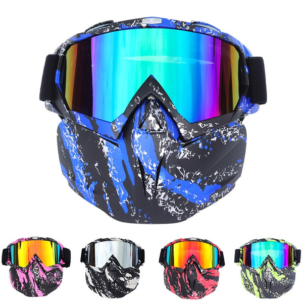 Riding Ski Snowboard Snowmobile eyewear Mask Snow Winter Skiing Ski Anti-UV Waterproof Glasses Motocross Sunglasses Men Women