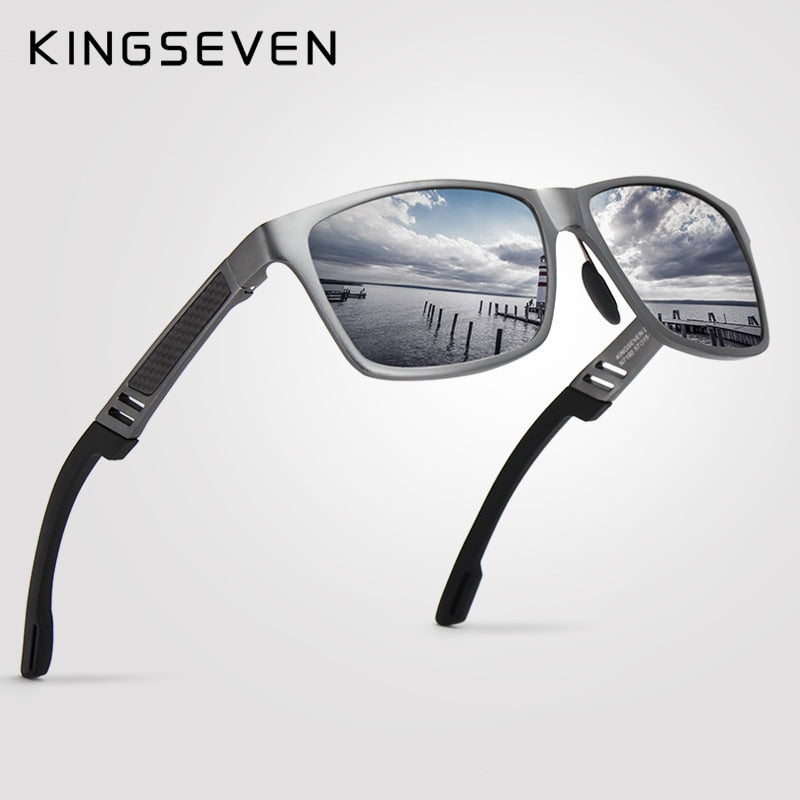 KINGSEVEN Polarized Sunglasses Men Vintage Sunglasses Eyewear