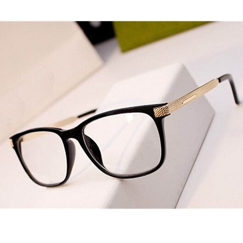 Metal Frame Glasses Retro Vintage Eyeglasses Frame Square Glasses Optical Clear Eyewear