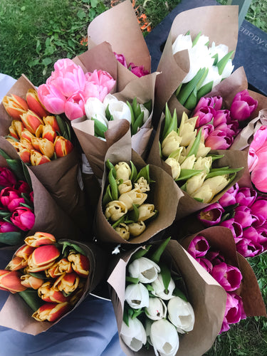 Fresh tulip bunches in the GTA by Envision Floral Studio