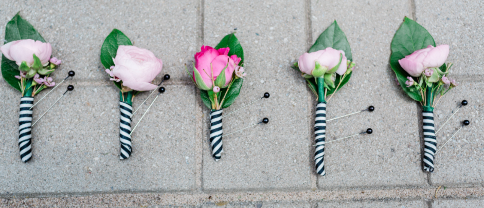 Pink Explosion Boutonniere