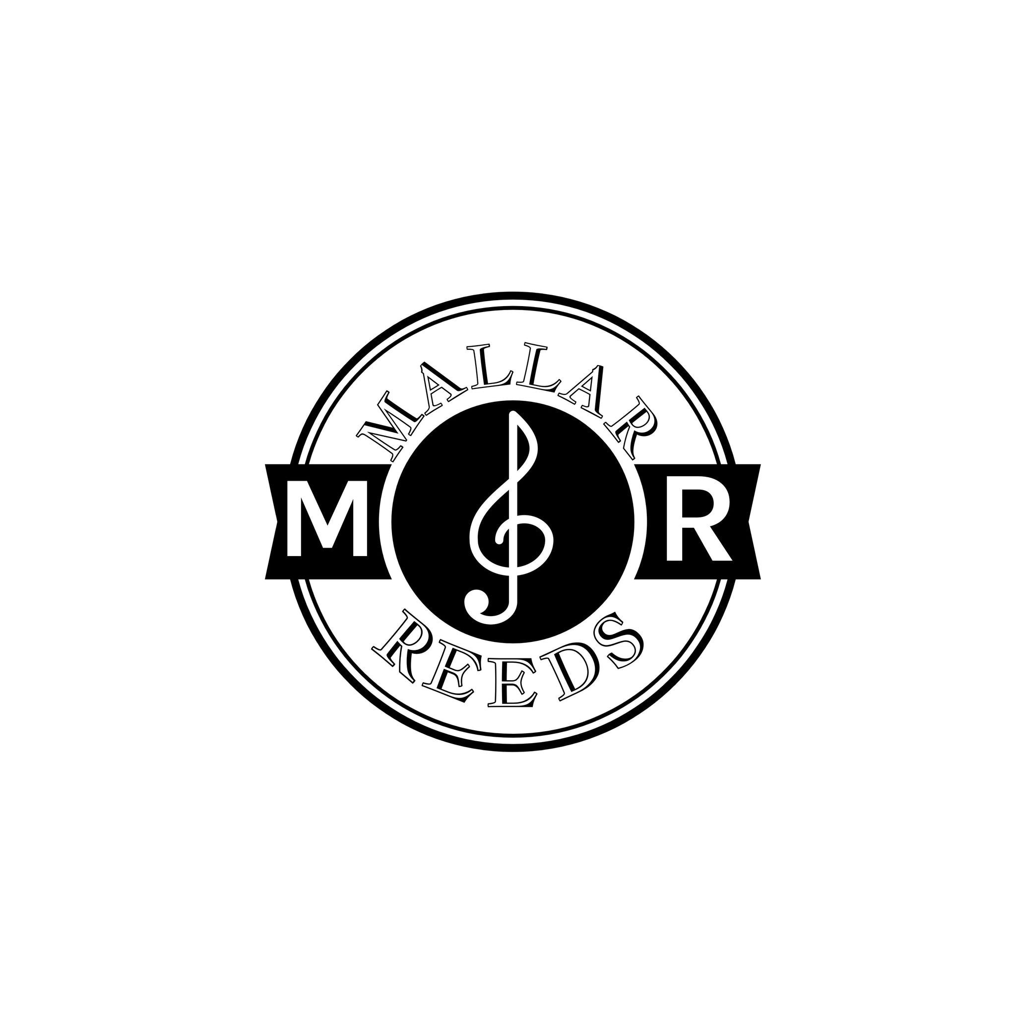 Mallar Reeds logo. Mallar reeds specializes in high-quality student bassoon and student oboe reeds.