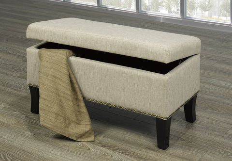 A-107 Beige Storage Bench - mrfurnitureandmattress
