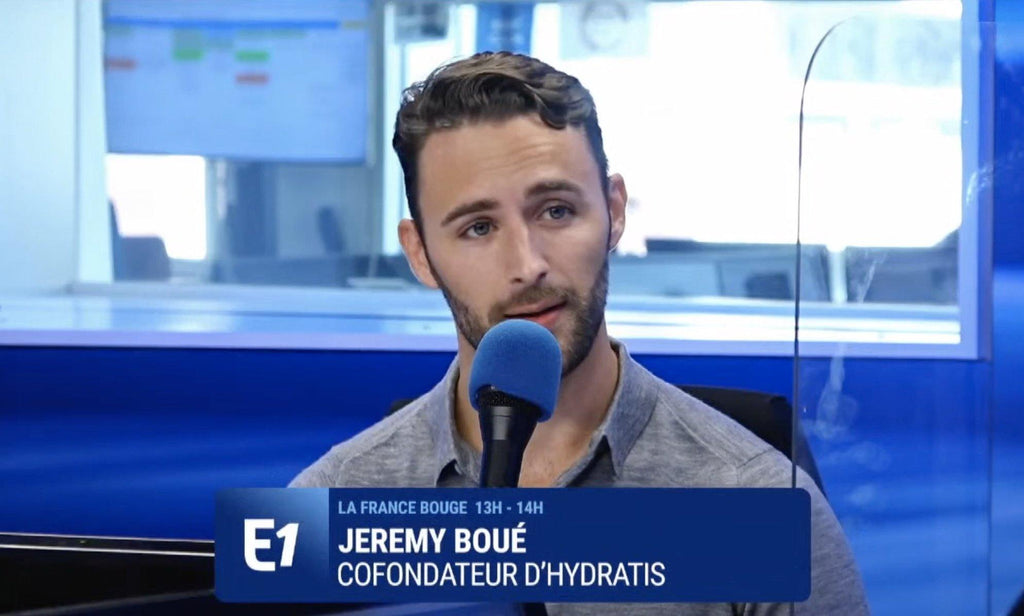 Hydratis-Jérémy Boué-Europe1-radio-hydratation-startup-innovation