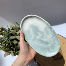 Load image into Gallery viewer, Oval Tray- Dark Sage Marbled