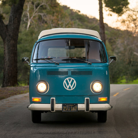 Classic VW Bus Camper Van - 1969 - Blue Beauty - Studio Rental - Picture Car