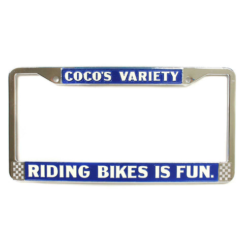 Bicycle Riding is Fun License Plate Frame