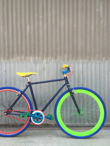 Men's Fixie - Custom Build - Very Colorful