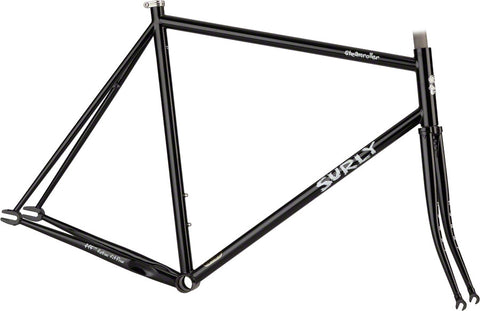 Surly Steamroller Frame and Fork - 49 CM - Black - Brand New in Box