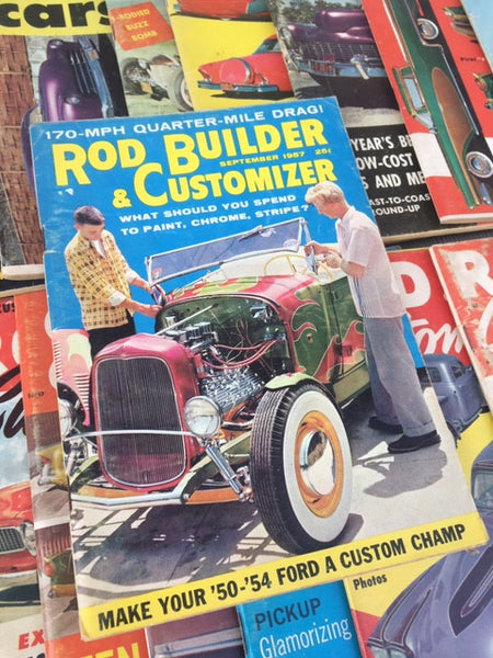 Hot Rod and Custom Car Magazines - 34 Issues of Rod & Custom, Car Craft, etc. Small Format
