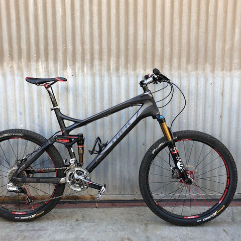 Modern Trek Fuel 9.9 High End Carbon Fiber Mountain Bike for Studio Rental