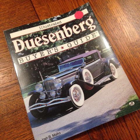 Illustrated Duesenberg Buyer's Guide by Josh B. Malks OOP