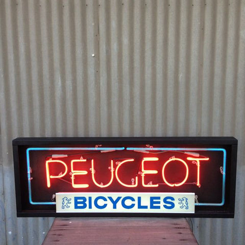 Peugeot Bicycles Neon Sign (NOS)